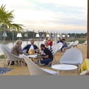 Restaurant : New Lodge  - Notre terrasse avec vue sur lac -   © Restaurant New Lodge