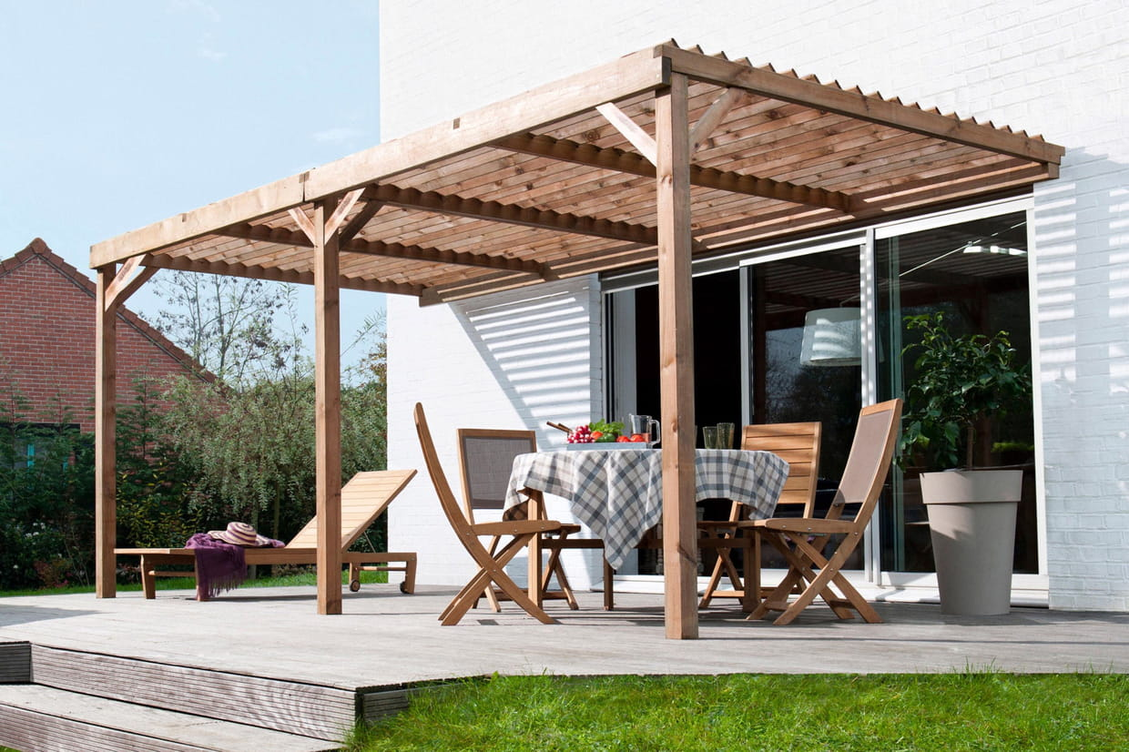 Pergola en bois fashion designs for Pergola jardin