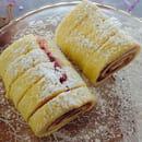 Au Goût thé d'Antan  - Roulé à la confiture de fraise  -