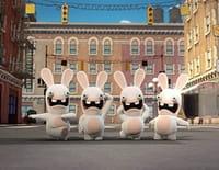 Les lapins crétins : invasion : Lapins volants