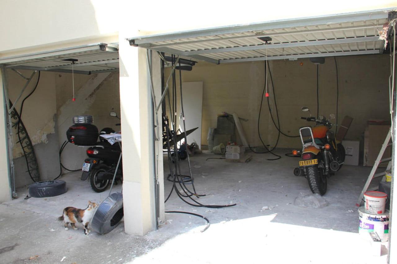 deux garages transformés en un bel appartement