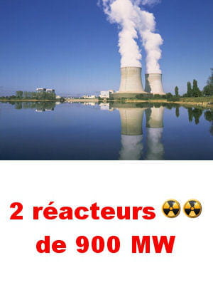 des produits radioactifs sont stockés dans deux silos sur le site.