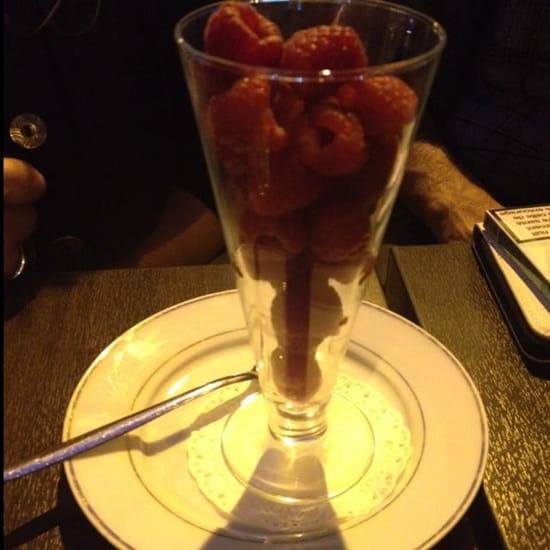 Dessert : Lux Cafe  - Coupe de framboise -
