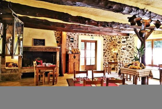 Entrée : Auberge Cevenole  - Salle principal avec cheminée -   © Auberge Cevenole