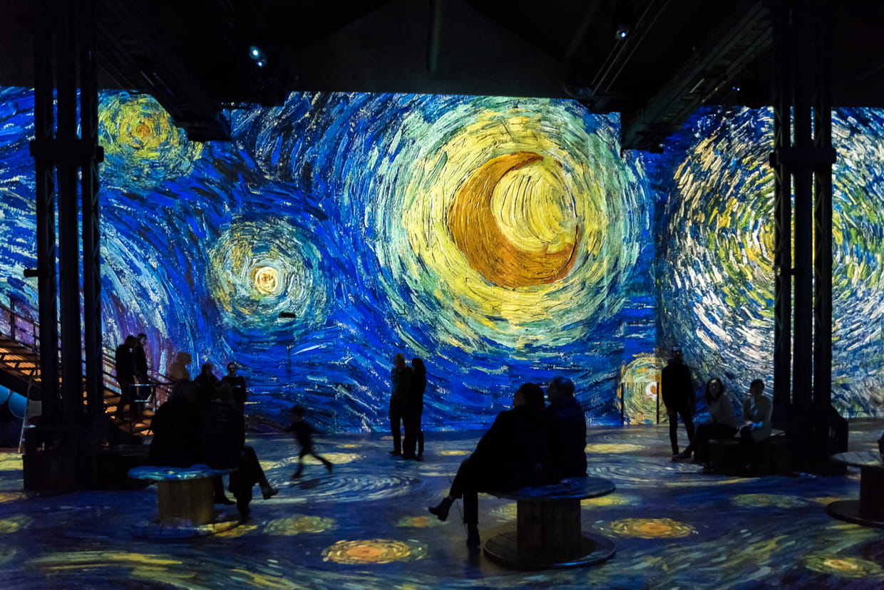 Image result for van gogh at the atelier des lumières