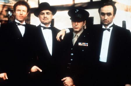 James Caan, Marlon Brando, Al Pacino etJohn Cazale dans Le Parrain de Francis Ford Coppola