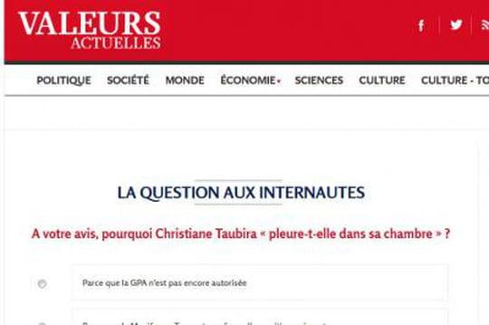 """Christiane Taubira """"pleure dans sa chambre"""": lesondage gênant deValeurs Actuelles"""
