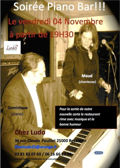 Chez Ludo  - Piano Bar -   © chezludo25@orange.fr