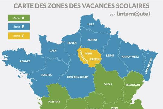 Vacances scolaires: calendrier 2018-2019et carte des zones A, B, C