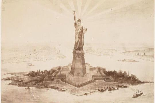 Une esquisse de la Statue de la Liberté