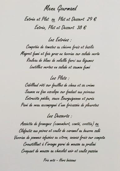 La Barriere de Clichy  - Menu Gourmand -   © La Barrière de Clichhy