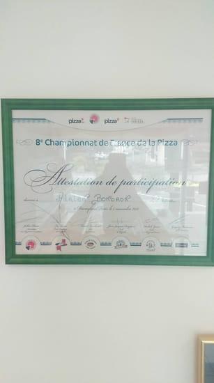 Restaurant : Roma Pizza  - Diplome du championnat de france de la pizza -