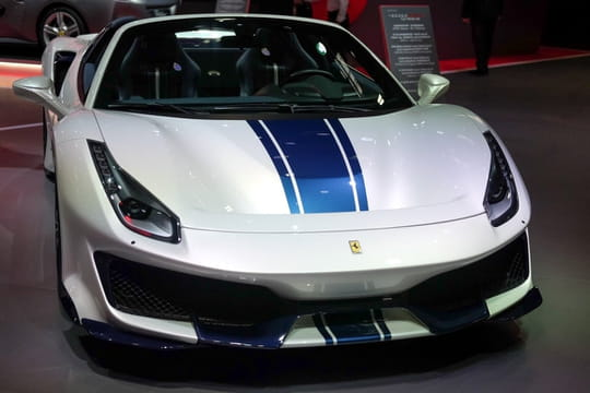Ferrari 488 Pista : la version Spider en photos au Mondial de l'Auto
