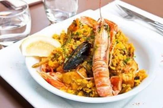 La Cantina Del Conquistadors  - PAELLA ROYALE faite maison 18.50 € l'assiette une sangria rouge offerte  -