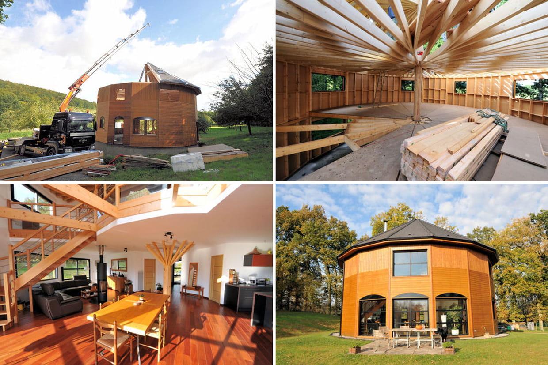 Une maison ronde en normandie for Construire une maison ronde
