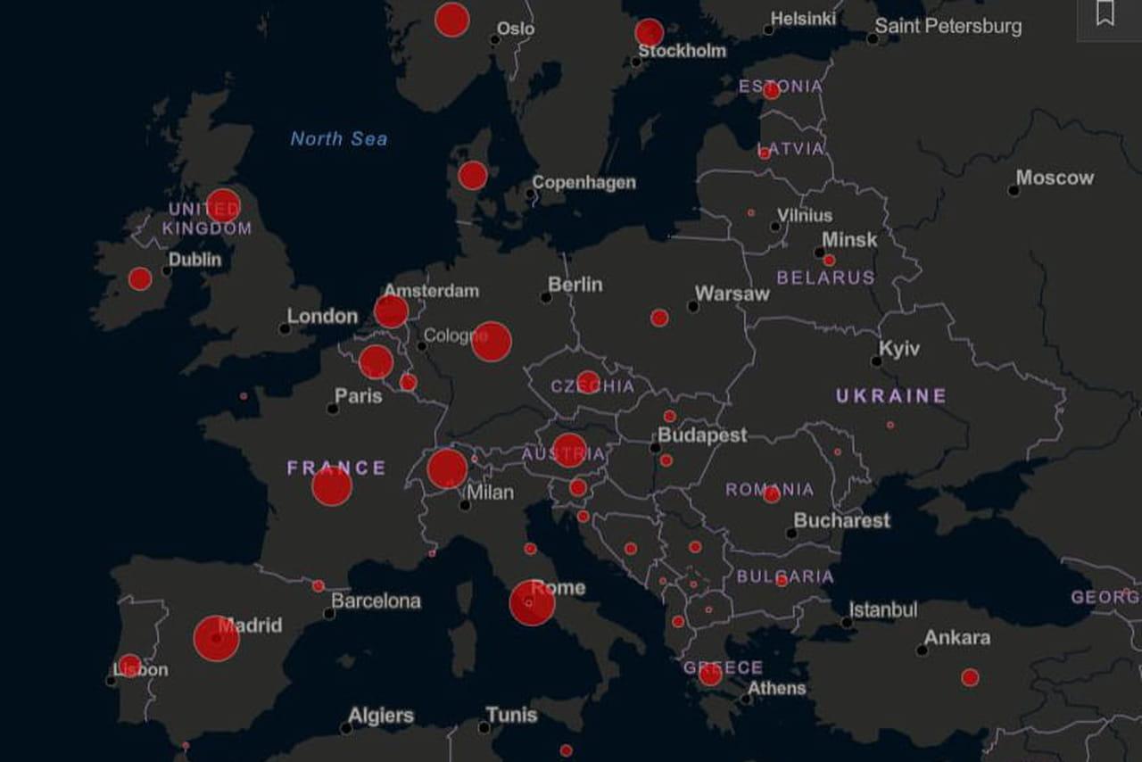 Coronavirus: carte du monde en direct, les chiffres par pays en Italie, Chine, Maroc, Espagne...