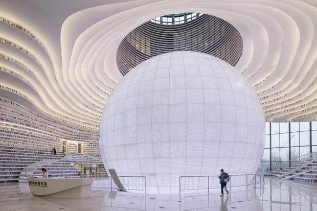 Tianjin Binhai Library en Chine