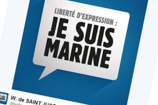 """""""Je suis Marine"""" : le FN fait à nouveau polémique sur les réseaux sociaux, dérapages sur Twitter"""