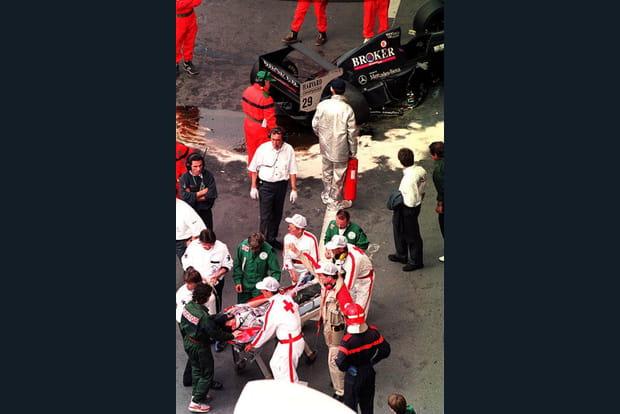 Karl Wendlinger à Monaco en 1994