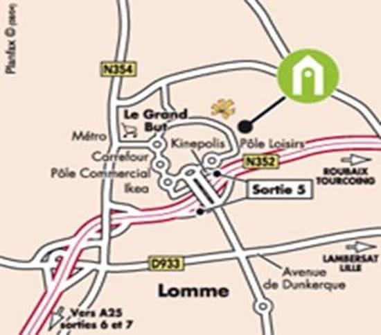 Restaurant Campanile  - notre plan d'accés -