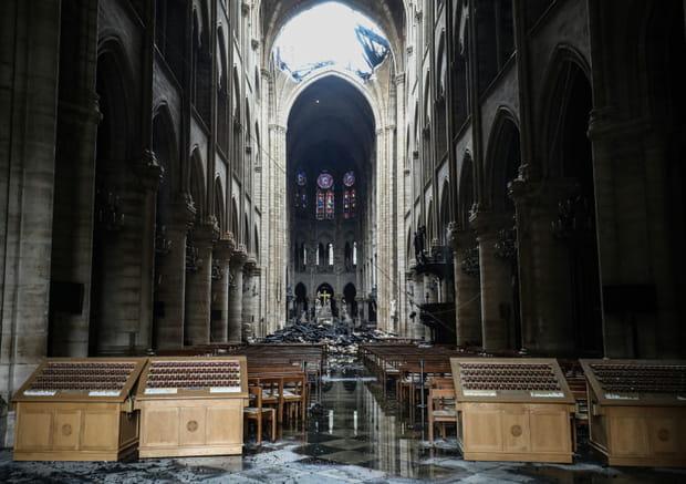 Les photos de Notre Dame après l'incendie