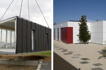 la construction d 39 une maison modulaire. Black Bedroom Furniture Sets. Home Design Ideas