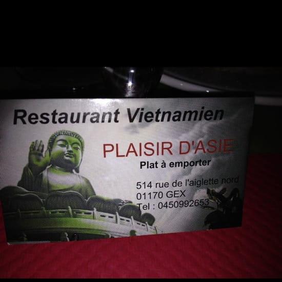 Restaurant : Plaisir d'Asie