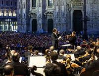 L'Orchestre de la Scala place du Dôme de Milan