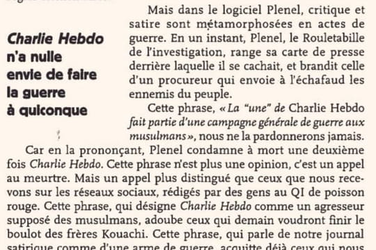 Charlie Hebdo: Riss se paye Plenel, Valls s'en mêle