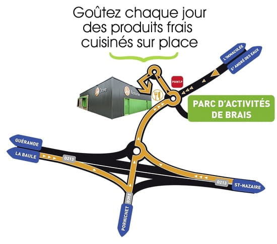 Bref  - Plan d'accès Bref Restaurant -