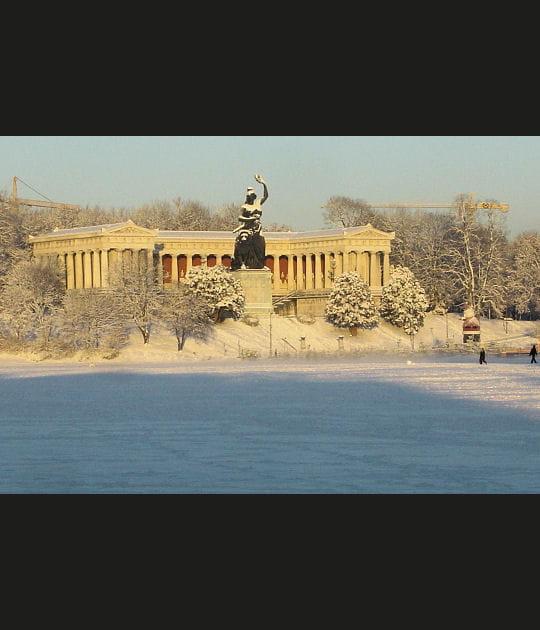 Theresienwiese sous la neige