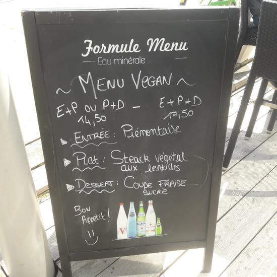 Restaurant : L'Indigo  - Menu Vegan -   © LF