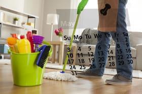 Calendrier du ménage: à quelle fréquence nettoyer votre maison?