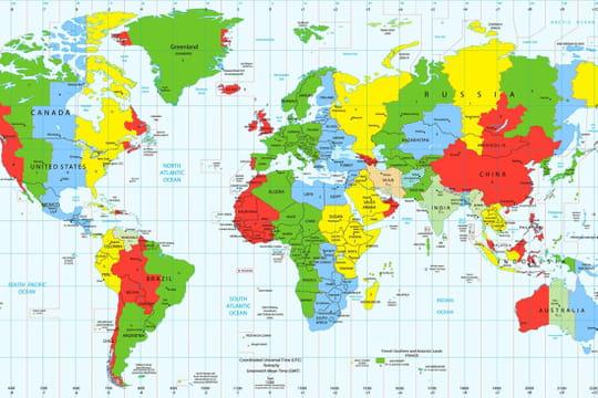 Décalage horaire: calcul du décalage et carte des fuseaux horaires