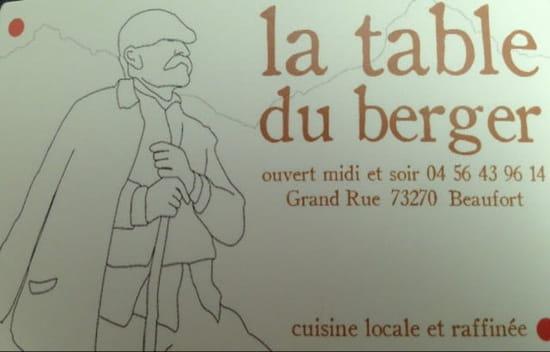 Restaurant : La Table du Berger