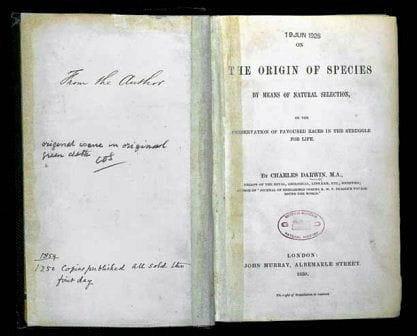Livre De l'origine des espèces