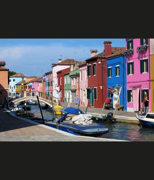 Multicolore Burano à Venise