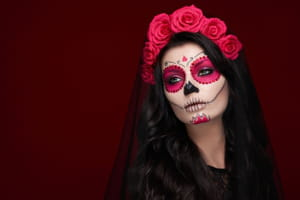 Maquillage d'Halloween de La Catrina