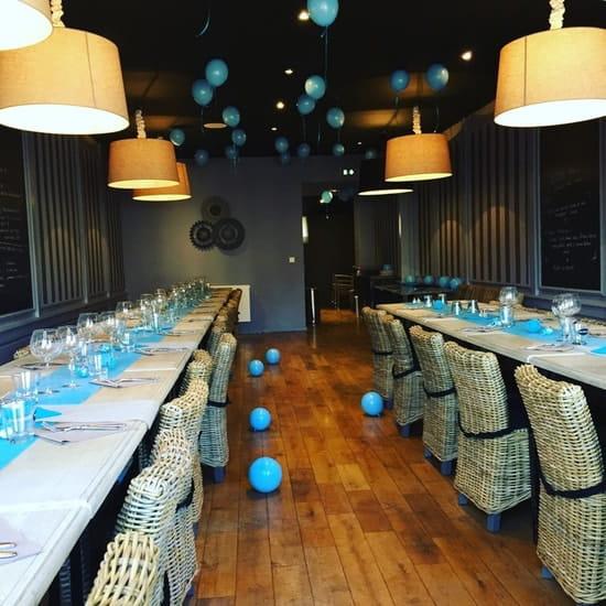 Restaurant : Le Foucrêpe's  - Salle du haut décorée pour un baptême :)  -
