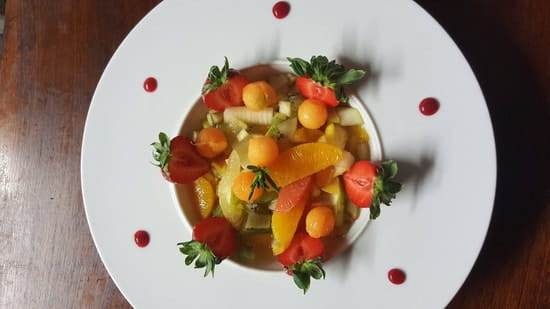 Plat : Au P'tit Parigot  - Salade de fruits frais -