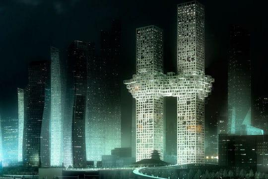 """Séoul: deux """"tours pixellisées"""" qui font polémique"""