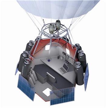 l'explorateur utilisera un petit drone pour prendre des images extérieures.