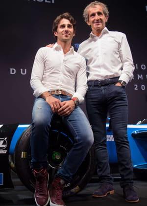 Alain Prost et son fils Nicolas