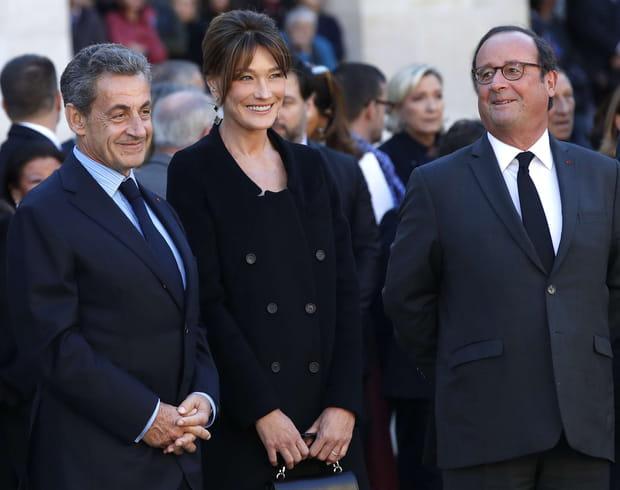 Nicolas Sarkozy, Carla Bruni et François Hollande