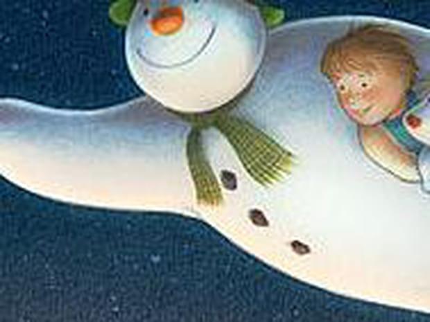 Le bonhomme de neige et le petit chien