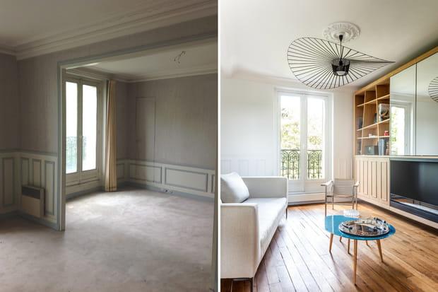 Après : la rénovation lumineuse d\'un appartement