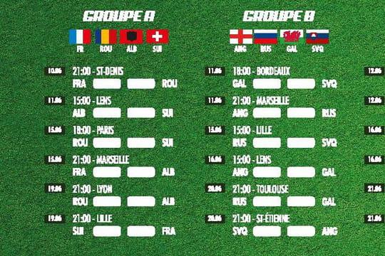 Calendrier Euro 2016 [PDF] : le programme des matchs à consulter et télécharger