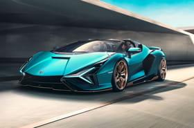 La Lamborghini Sian Roadster en images