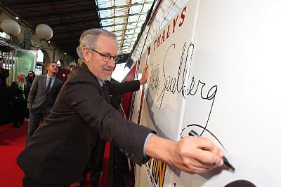 dã©dicace spielberg 2011 paramount pictures and columbia pictures thalys