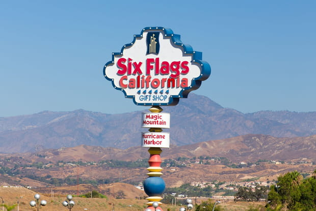 Six Flags Magic Mountain, Los Angeles, Californie, Etats-Unis